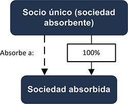 Socio único (sociedad absorbente) - Sociedad absorbente - INEAF