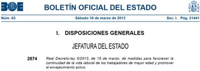 Real Decreto-ley 5/2013, de 15 de marzo