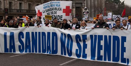Marea Blanca en Madrid contra la privatización - INEAF