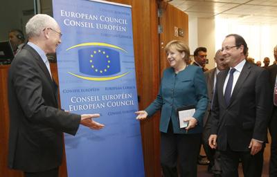 Angela Merkel y François Hollande - INEAF