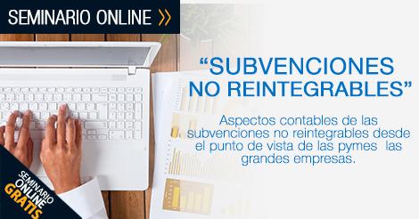 subvenciones no reintegrables - INEAF